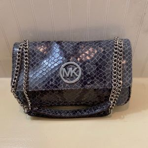 Michael Kors Gray Snakeskin Crossbody
